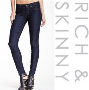 Rich & Skinny Blue Skinny Jeans Stretch Size 29